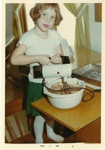 Ah the glory days! (Although, from the looks of this picture, my electric mixer is about to entangle the chord, perhaps setting off a life-changing series of appliance failures from which I have yet to recover.
