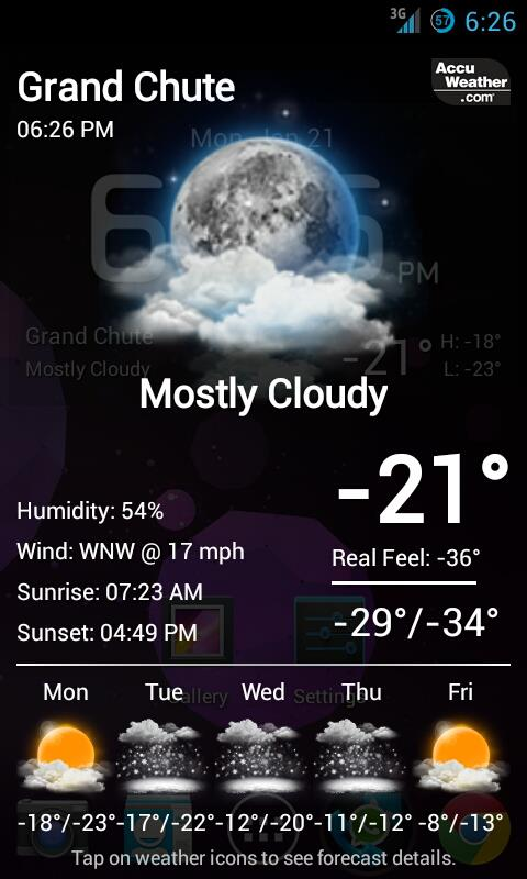 Borrowed this little screen shot from my friend Carlos' Facebook wall. Brrrrr.