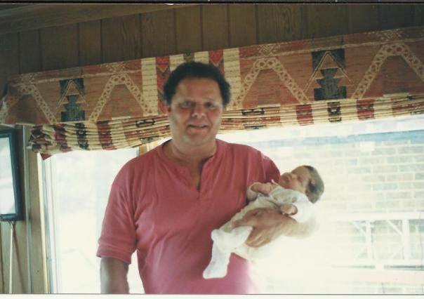 Dad and baby Katherine