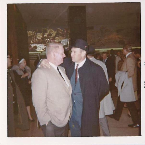 """Here are Henry Jordan and Dave """"Hawg"""" Hanner after Super Bowl I. Upon hearing the shocking news in 1977 that Henry Jordan had died at age 42, his former teammates flew in from all over the country to attend the funeral."""