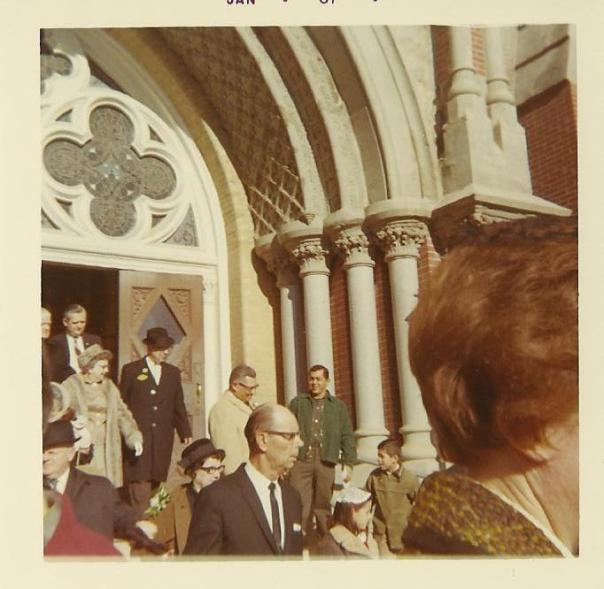 Here's a shot my dad took of Vince and Marie Lombardi attending church the morning of Super Bowl I. A deeply religious man, Coach Lombardi maintained a lifelong friendship with his parish priest Father Bill Spalding. Together, the two developed the Bishop's Charity football game, a fundraising tradition that continues today.