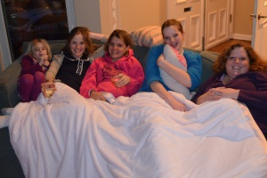 A good old fashioned slumber party.