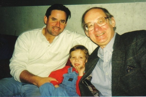 Three generations of Vincents, three generations of goofy practical jokers. In honor of Grandpa Vince, Happy St. Cyril's/