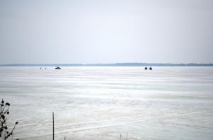 April ice fishermen