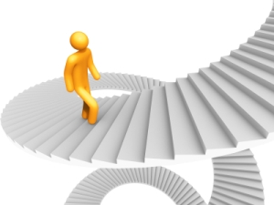 My 17-year old nephew Michael sent this cool graphic representation of one step at a time.