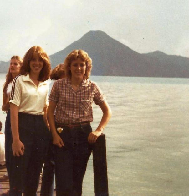 Kathy Murray and Me at Lake Atitlan