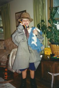 Charlie dressed as his Grandpa Vince, also a beloved influence.
