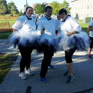 Tuxedos and tutus.