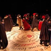 This is the stage floor of an amazing production of Cyrano.