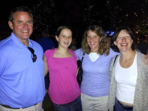 Here we are visiting Donna on her stomping grounds at a street fair in Illinois