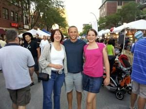 Donna, Vinnie and Molly at Taste of Arlington