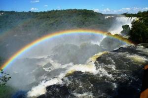 double rainbow double falls