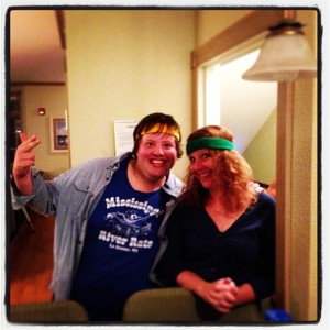 At the Biskupic family reunion this summer my mom asked me why I liked wearing sweatbands so much, so I decided to let her experience the joy herself.