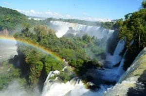 Rainbow over the falls