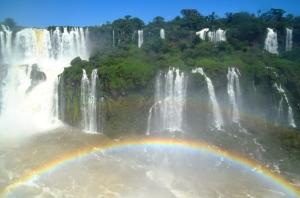 The rainbow on the Brazilian side