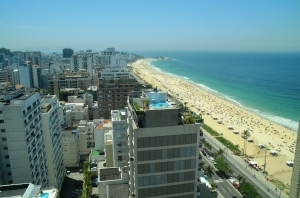 This was the view from our hotel room in Rio. With Ipanema Beach right outside our door, we didn't spend much time in the room.