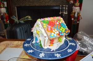 Family Christmas gingerbread house