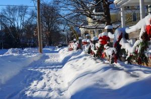 Frozen Walk Christmas garland