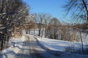 Frozen Walk River