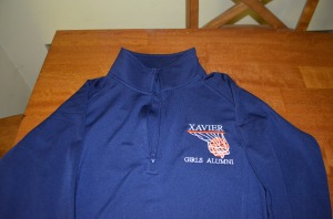 We received these cool alumni pullovers, which I will wear with pride.