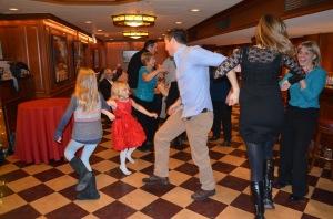 75th birthday chicken dance dance