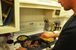 Croatian dinner Vinnie cooks