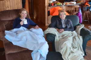 Time your return to the cabin right and someone will meet you with a hot drink, a roaring fire and a warm blanket.