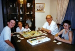 Grandpa Vince started them young. Here he is during a heated Monopoly game with Charlie, Katherine, Mari and Robert.