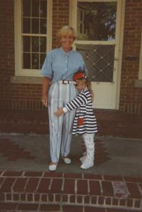On Grandma Peggy's porch