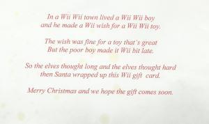 Wii Wii note