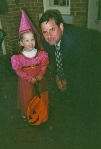 4 year old Molly was not thoughtful enough to repay her Dad in candy for walking her from house to house, luckily he responded very maturely.