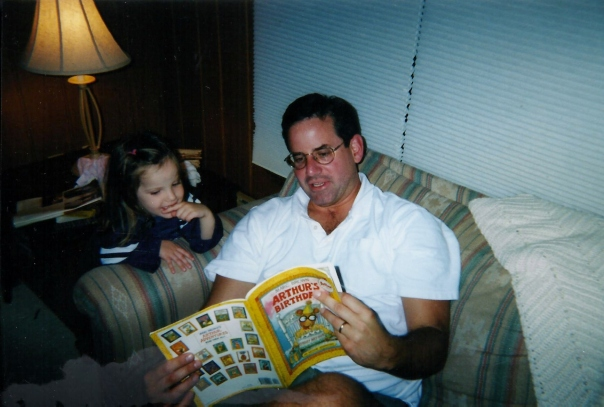 Vince and Molly reading