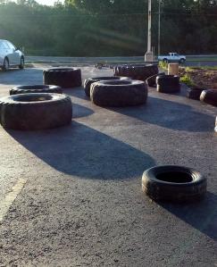 Nothing says summer like sunrise over giant tires.