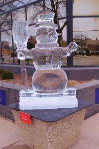 Ice suplture snowman