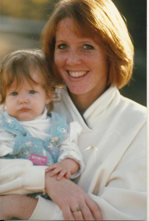 Baby Katherine and me at the farm