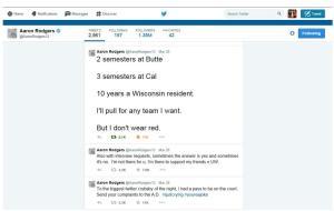 Aaron Rodgers classic tweet
