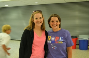 Relay for life Katherine and Kathy
