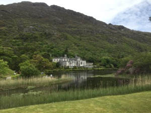 Kylemore Abbey, totally worth the motion sickness on the peat roads.