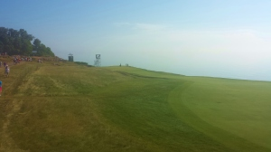 Eighth hole between play