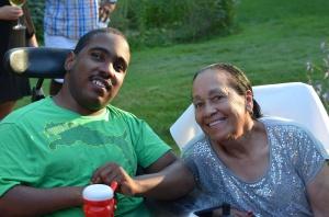 Kathy's party Traveain and Grandma Thelma