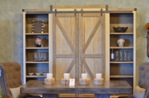 Barn door hutch