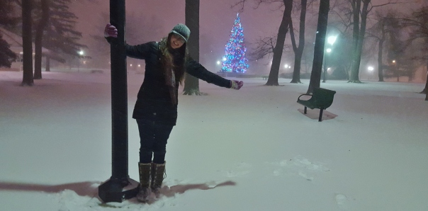 Crazy Molly and the snow