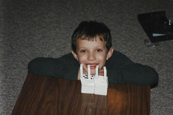 Vinnie and dominoes