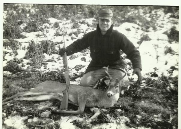 Dad and his first deer 1956. Hunting with Stevie and Jimmy Melnyk