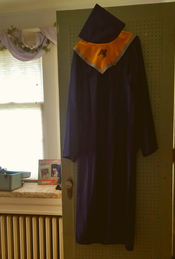 Molly's graduation gown