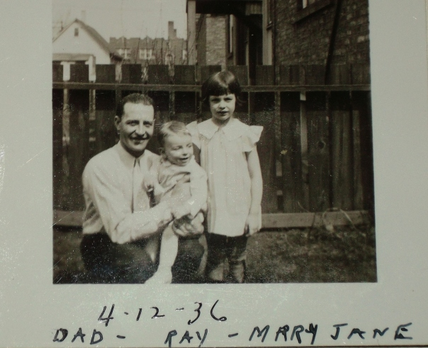Raymond, young Ray and Mary Jane Bauer