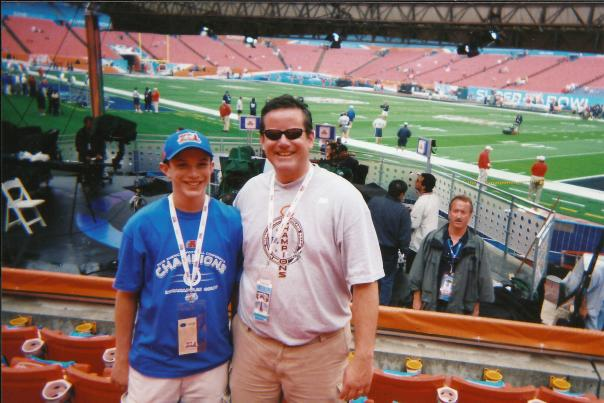Vinnie and Vince at the Super Bowl 2007