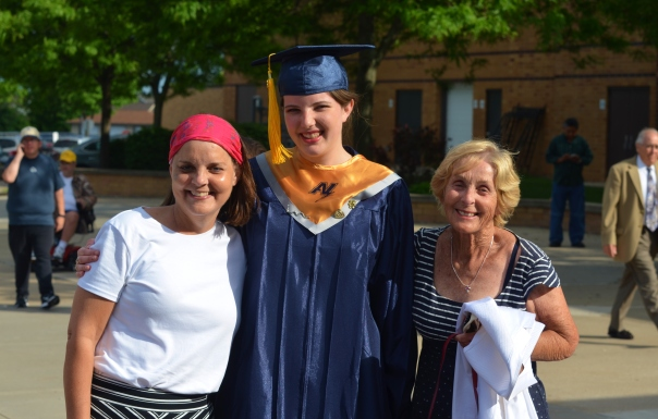 Kathy, Molly and Mom